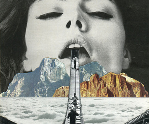 Collage, art, and vintage image