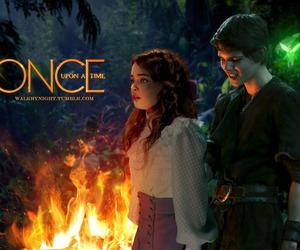 once upon a time, neverland, and peter pan image