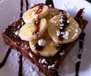 bananas, breakfast, and chocolate image