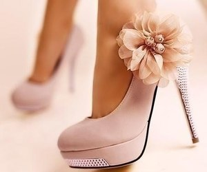 flower, girl, and shoes image