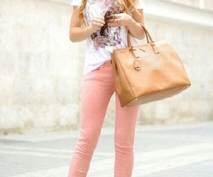 heals, jeans, and white image