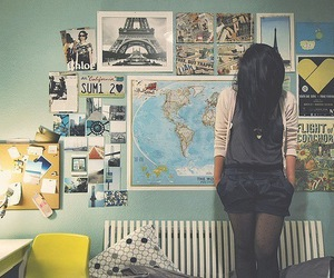girl, paris, and room image