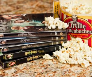 harry potter, popcorn, and movie image