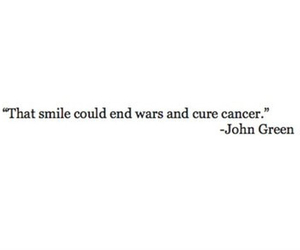 quotes, smile, and john green image