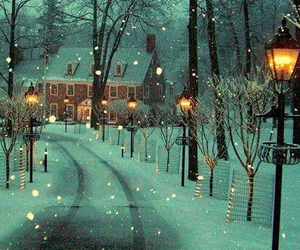 snow, street, and winter image