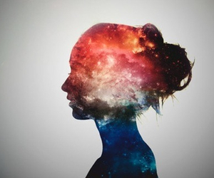 girl and galaxy image