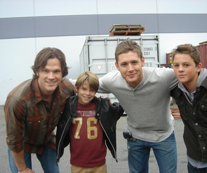 dean, spn, and colin ford image