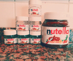 chocolate, food, and nutella image