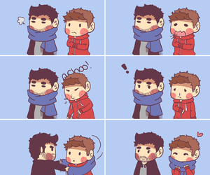 sterek, cute, and teen wolf image