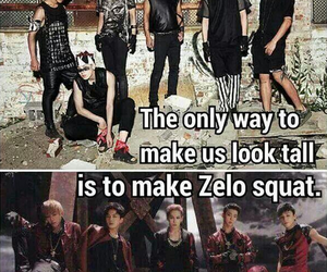 bap, zelo, and funny image