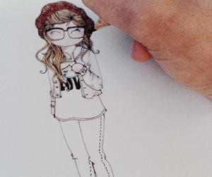 dessin and girl image