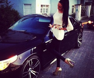car, luxury, and heels image