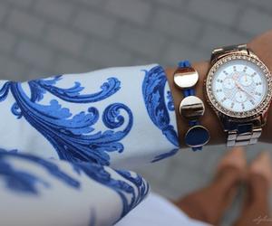watch, fashion, and blue image