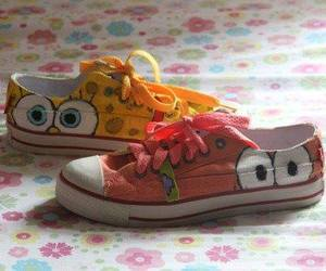 patrick, shoes, and spongebob image