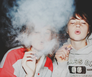 girl, smoke, and friends image