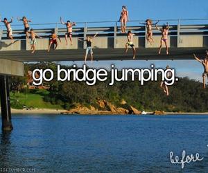 bridge, fun, and jump image