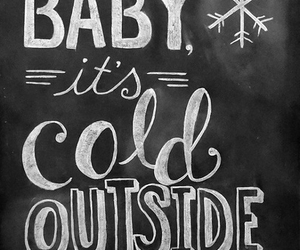 cold, winter, and baby image