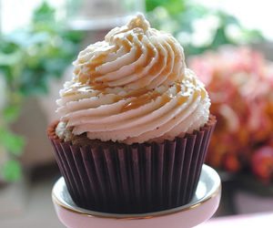 apple, caramel, and cupcake image