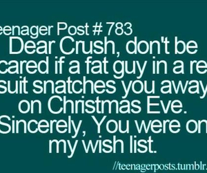 crush, christmas, and santa image