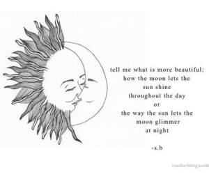 moon, sun, and quotes image
