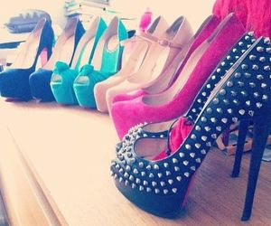 fashion, louboutins, and spikes image