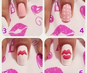 nails, cute, and pink image