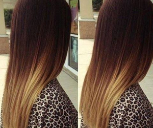 hair, ombre, and brown image