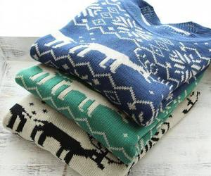 sweater, blue, and green image
