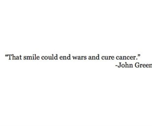cancer, cure, and john green image