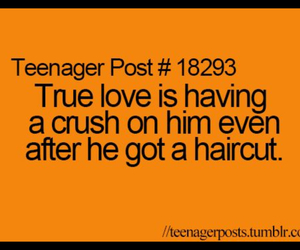 love, crush, and haircut image