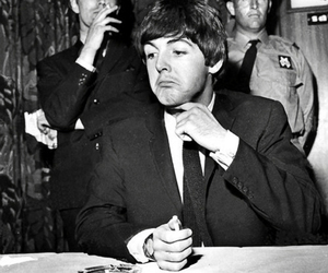 b&w, Paul McCartney, and the beatles image