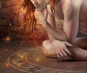 art, circle, and magic image