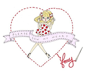 foxy, heart, and illustration image