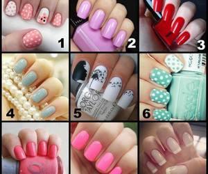 nails, red nails, and beautiful nails image