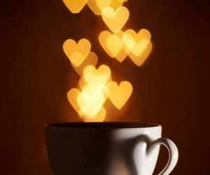 coffee, hearts, and heart image