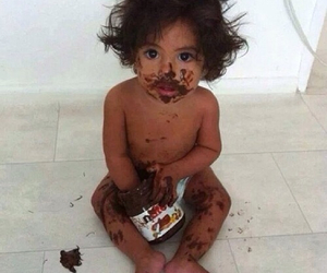 baby, nutella, and sweet image