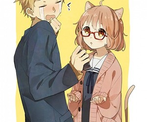 kyoukai no kanata and kawaii image