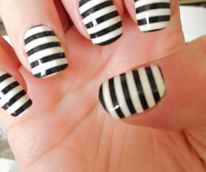 nails, black, and stripes image