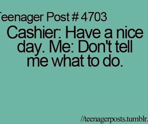 funny, teenager post, and cashier image