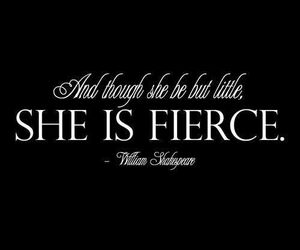 quote, fierce, and shakespeare image