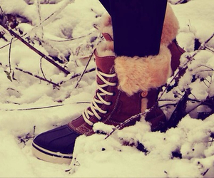 boots, fashionable, and winter fashion image