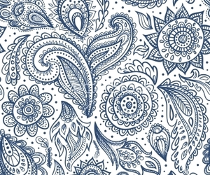 background, bohemian, and floral image