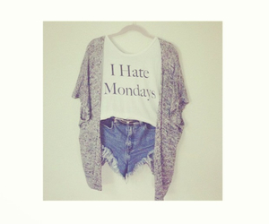 hate, mondays, and outfit image