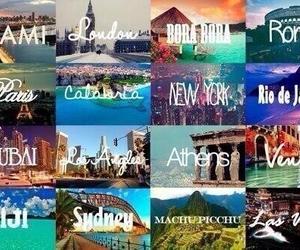 around the world, machu picchu, and nyc image