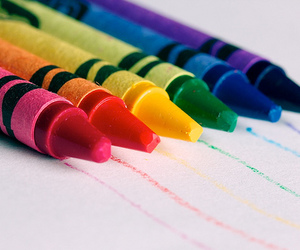 crayon and blue image