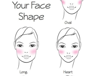 blush, makeup, and face shape image
