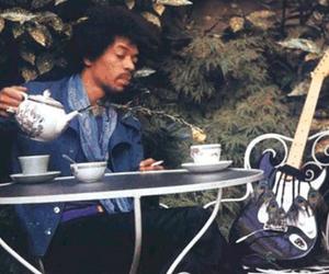 guitar and Jimi Hendrix image