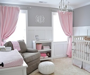 pink, baby, and bedroom image