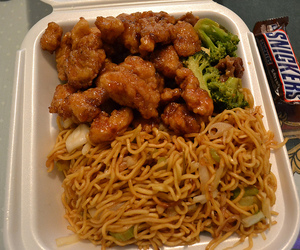 Chicken, food, and chinese food image