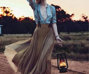 jean jacket, dresse, and model image